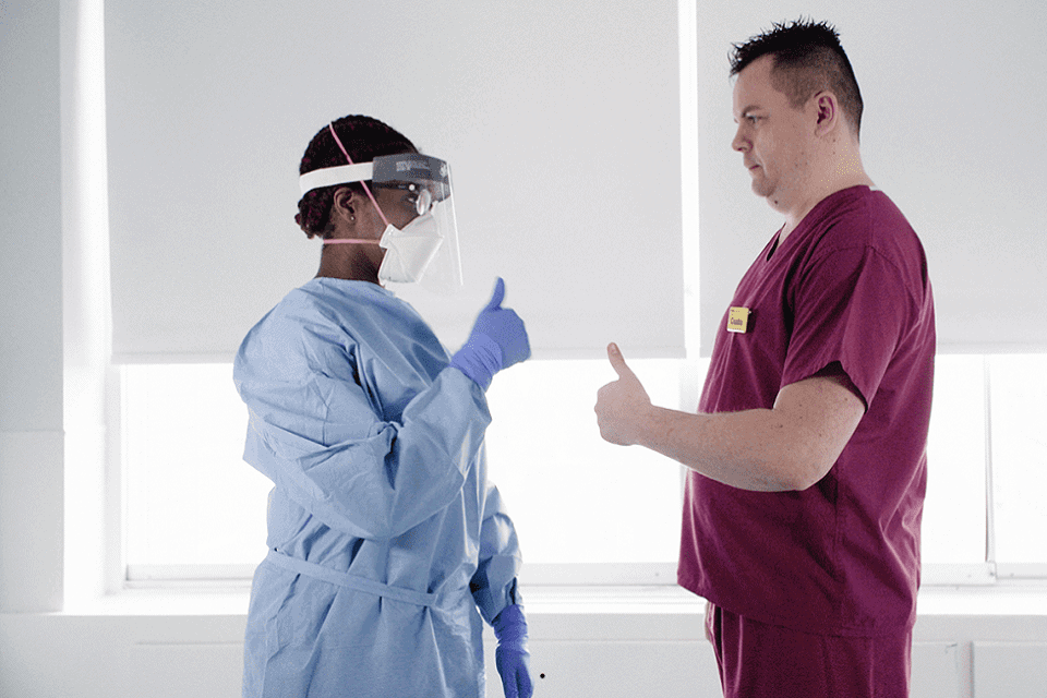 NHS faced with a shortage of personal protective equipment (PPE).