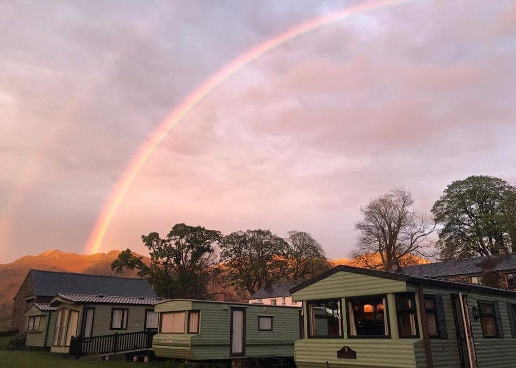Sunday night's rainbow taken by Rosita Kitching at Dalebottom Farm at Naddle near Keswick.
