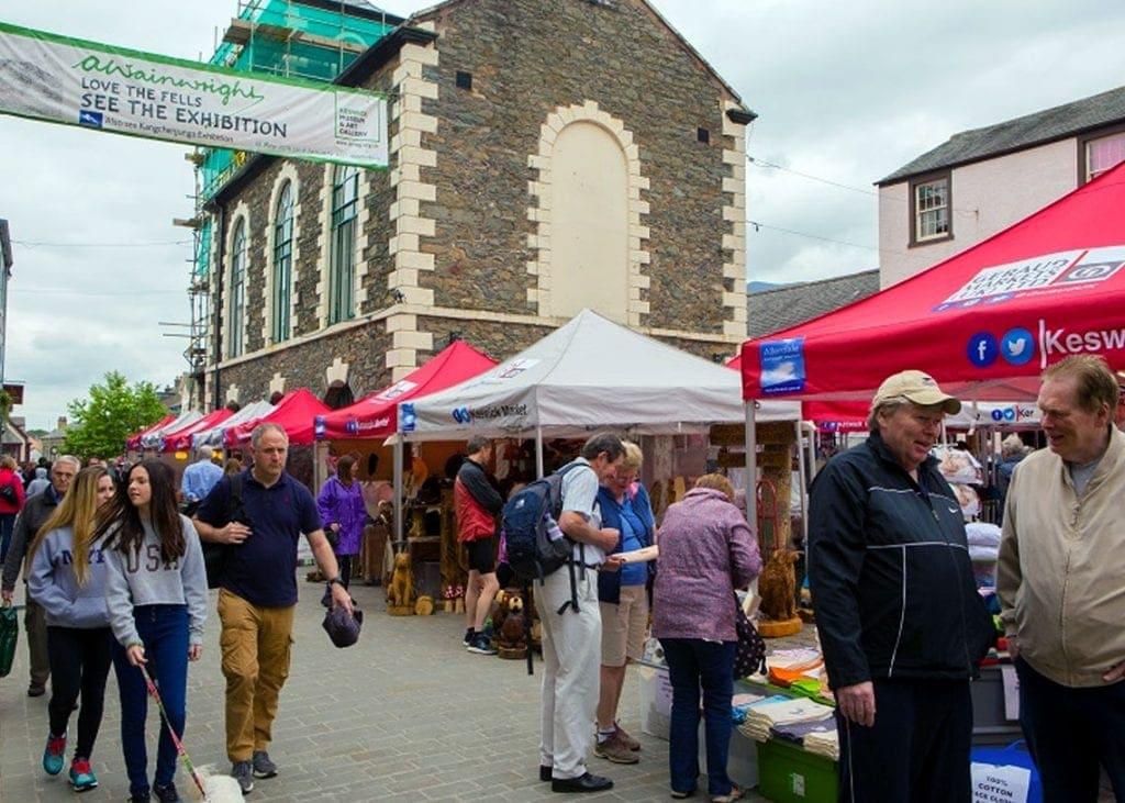 Busy Keswick Market day