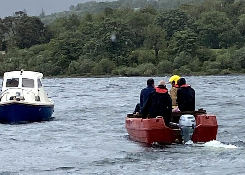 Firefighters had to rescue two canoeists who were stranded on an island