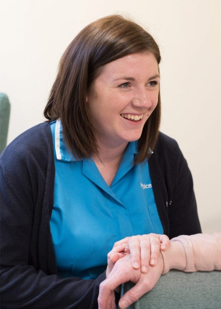 Hospice trainee nurse associate Emma Evans