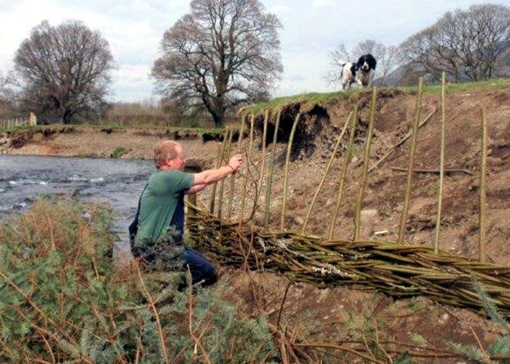 Works beginning along the River Derwent, Portinscale