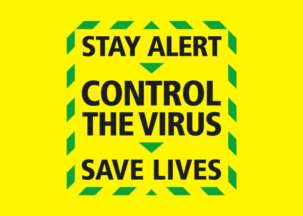 The new government message: Stay Alive > control the virus > save lives