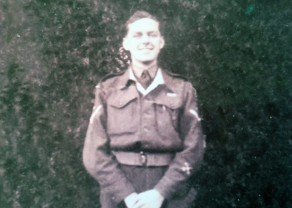 Jim Newstead age 19 in the army during the 1939-45 war
