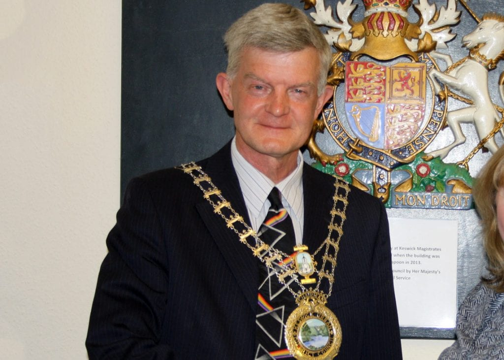 Keswick's new mayor Cllr Paul Titley