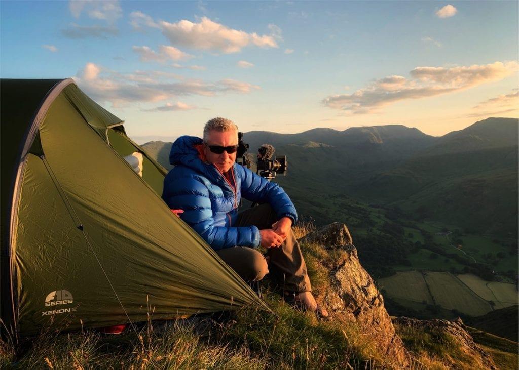 Acclaimed Cumbrian film-maker, Terry Abraham. Photo Paul Bacon.