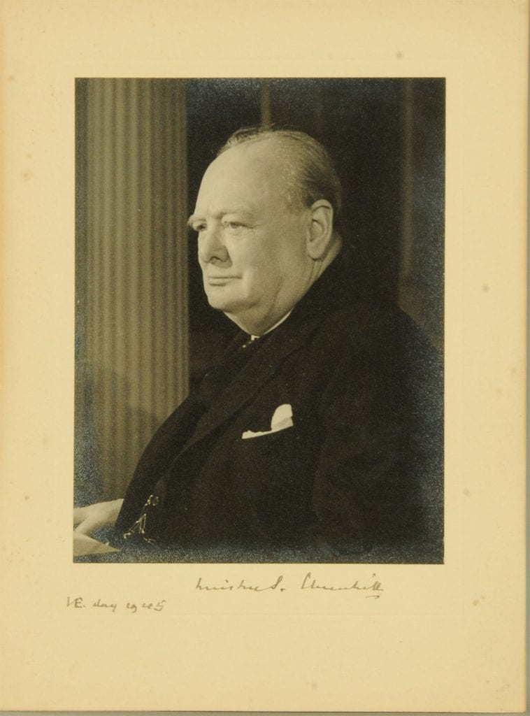 Winston Churchill's signed photograph to Colonel Steer-Webster