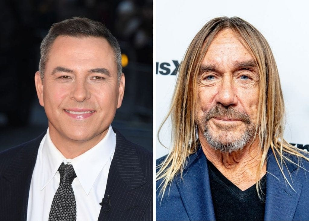 Author David Walliams (left) and Iggy Pop (right) were among 40 celebrities who each recited sections of Coleridge's epic 18th century masterpiece The Rime of The Ancient Mariner