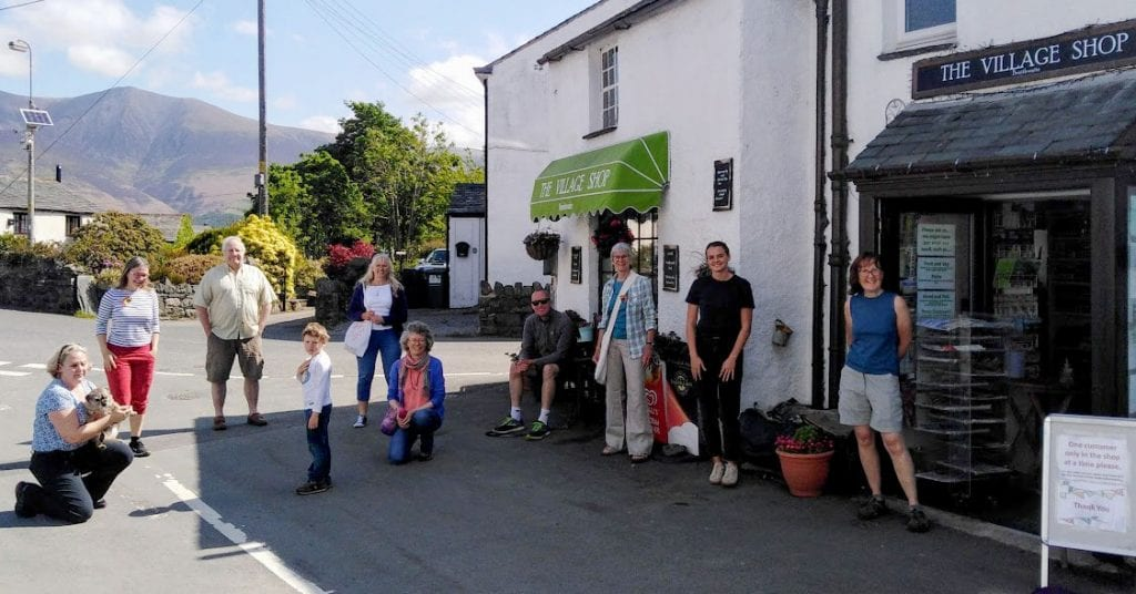 Some of the 13 volunteers who have helped run Braithwaite village shop