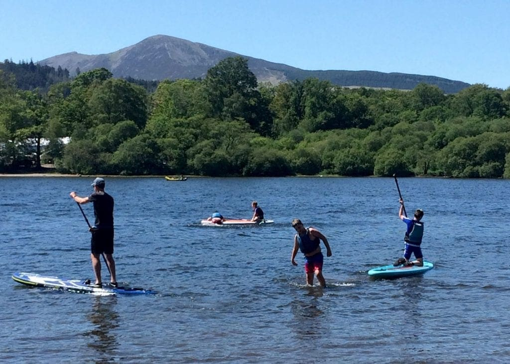 Messing about on Derwentwater while trying to stay cool.