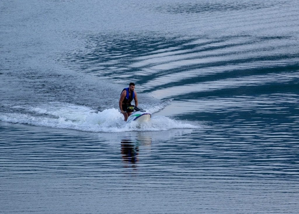 Jet skiers were photographed on Derwentwater yesterday (Thursday 25 June) evening by a Keswick Reminder reader