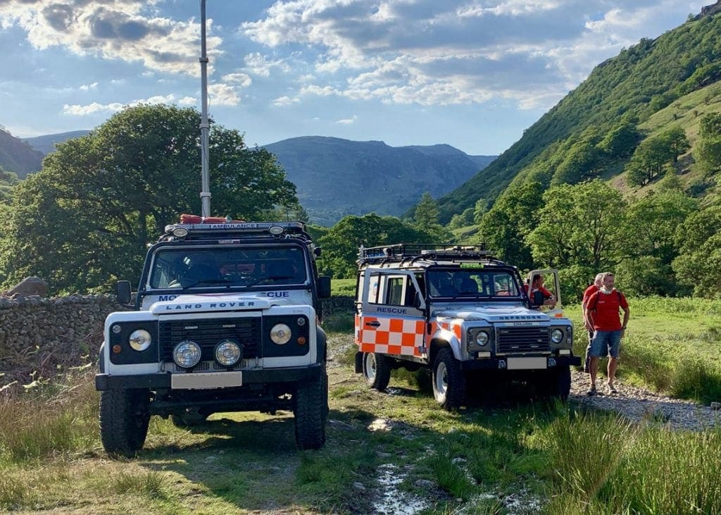 Members of Keswick MRT went to the aid of an injured walker in the Borrowdale Valley on Sunday.
