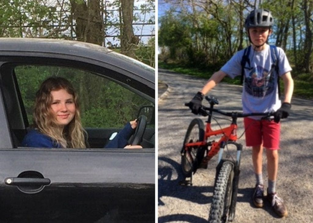 Brother and sister Emily and Felix Bauer are helping in their community with the Northern Fells Group during the Covid crisis