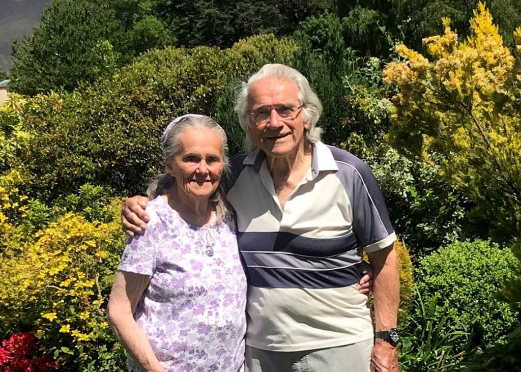 Muriel and Robert Strachan at their home in the Lake District. Photo Strachan Family.