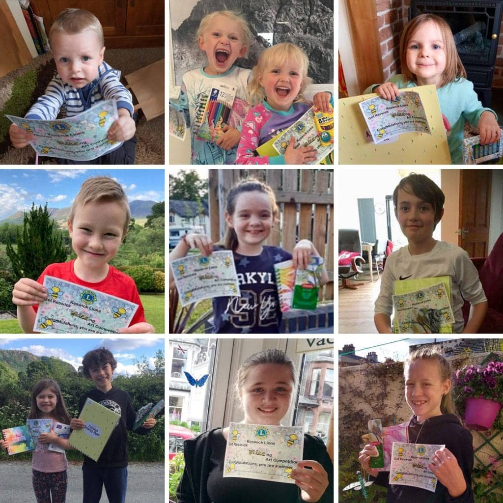 Top row: Freddie Farnham, Willow and Olive Woods, Molly Farnham. Middle row: Finley Holden, Maisie Cooper, Jude Booth. Bottom row: Rose and Aneurin Campbell Savours, Grace McConnell, Hazel Sleath.